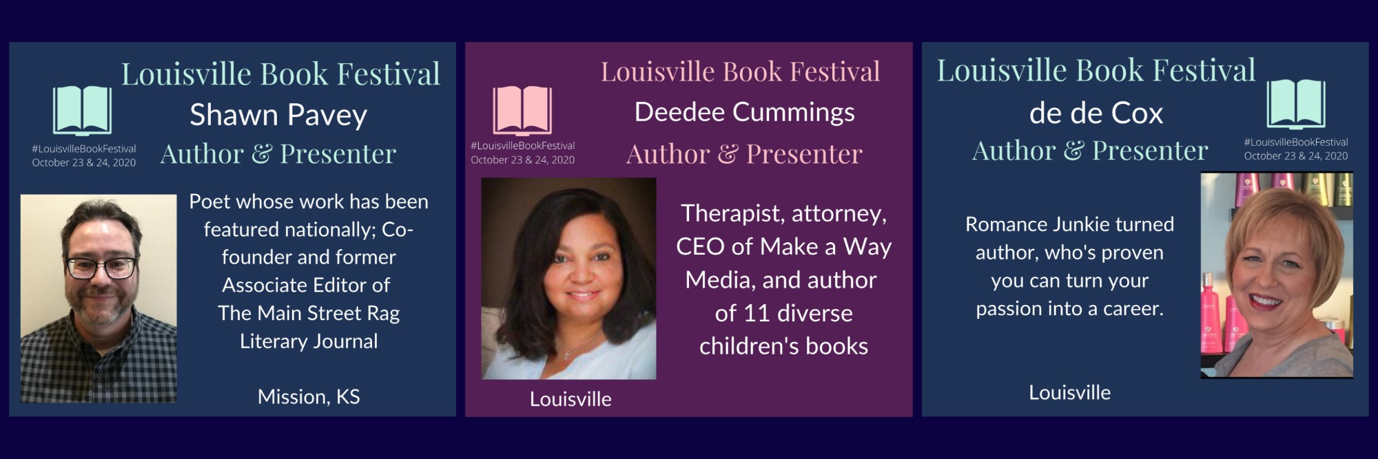 Authors and Speakers of the Louisville Book Festival